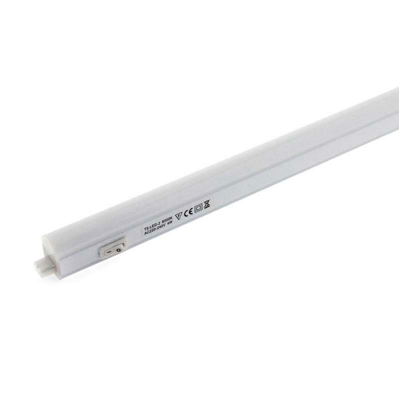 Tubo LED T5 Integrado con interruptor, 4W, 31cm, Blanco neutro